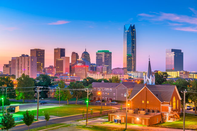 Oklahoma City is the capital state of Oklahoma in the US.